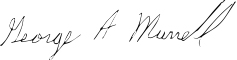 george a murrell signature